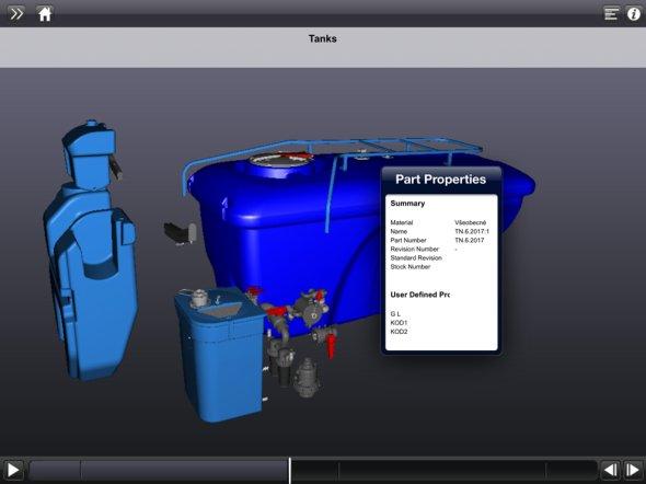 Ukázka z 3D katalogu náhradních dílů zobrazeného na mobilním zařízení. (Zdroj: Agrio)