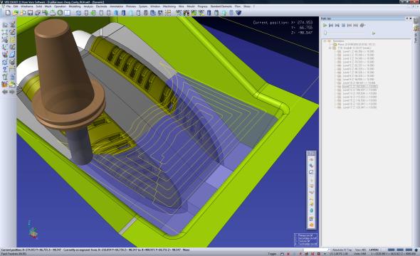 Visi V21 představí nové obráběcí strategie pro 2osé, 2.5osé a tříosé frézování. Foto: Vero Software