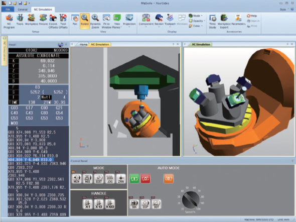 Uživatelské rozhraní aplikace DMG Mori Manufacturing Suite. Zdroj: DMG Mori