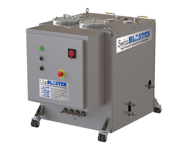 Vysokotlaká jednotka SwissBlaster obsahuje přepad zabraňující ohřevu procesní kapaliny: Foto: T-support
