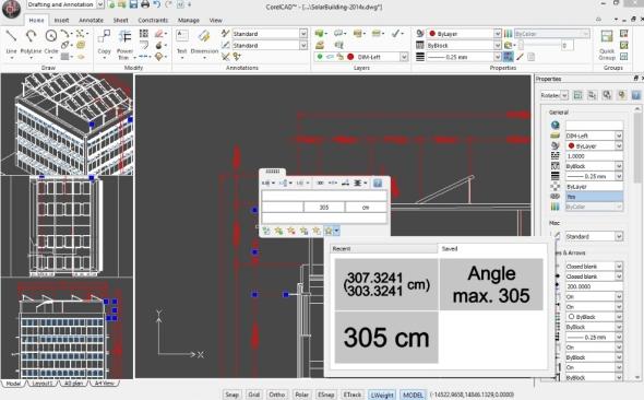 CorelCAD 2015 má novou funkci pro tvorbu a úpravu stávajícího textu. V nové verzi je možné vkládat i formátovaný text z aplikace Microsoft Word. Foto: Corel