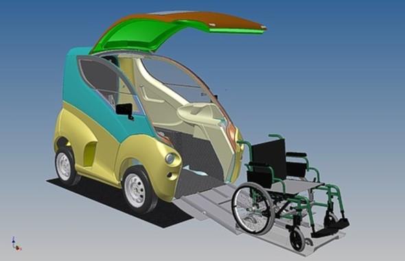 Trojrozměrný model vozidla Elbee vznikal vInventoru (zdroj: ZLKL, CAD Studio)