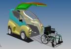 Trojrozměrný model vozítka Elbee vznikl v Inventoru (zdroj: ZLKL, CAD Studio)