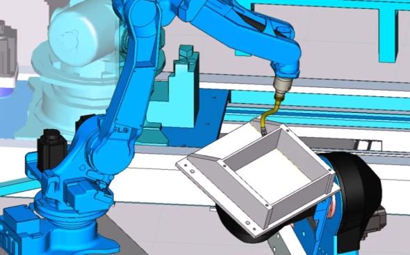 Tecnomatix 12 posílí pokročilé programovací funkce robotů. Foto: Siemens PLM Software
