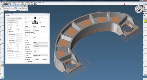 Charakteristická dráha nástroje vygenerovaná VoluMillem v GibbsCAMu. Foto: GibbsCAM