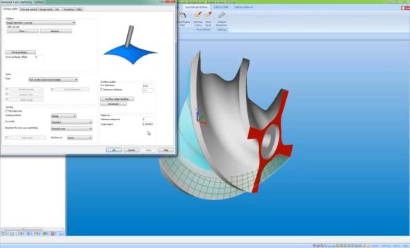 Charakteristické pro ModuleWorks je okno nastavení parametrů pětisoého frézování. Foto: Vero Software