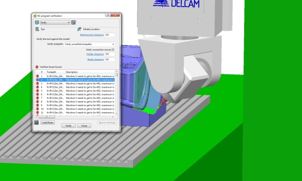 Druhá aktualizace PowerMillu 2015 vylepšila kontrolu kolizí. Foto: Delcam
