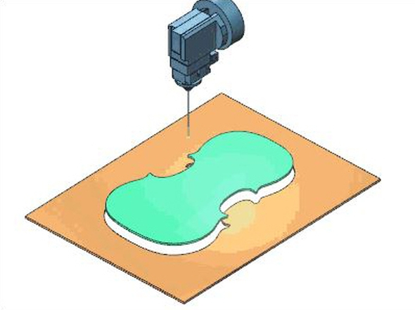 V simulaci při řezání drátem je možné kontrolovat oddělení součástí. Foto: ModuleWorks