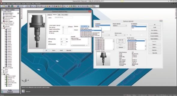 Delcam FeatureCAM pro obrábecí operace automaticky vybírá vhodné nástroje z jejich modifikovatelné databáze.