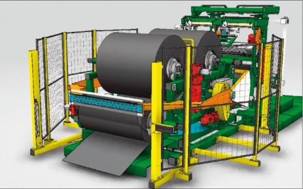 Catia V6 umožňuje simulovat kinematiku komplexních strojních zařízení i celých provozů.