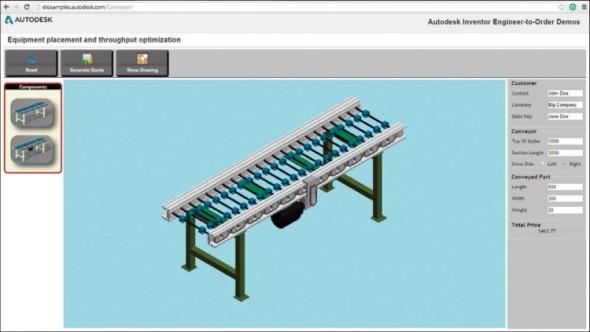 On-line aplikace umožňuje zobrazit interaktivní cenovou nabídku se 3D modelem v běžném internetovém prohlížeči.