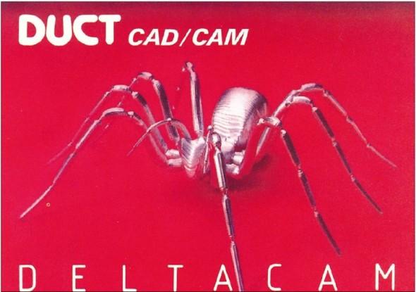 Zatímco pavouk je symbolem Delcamu dodnes, původní název softwaru zněl DUCT (zkratka Design Using Computer Techniques).