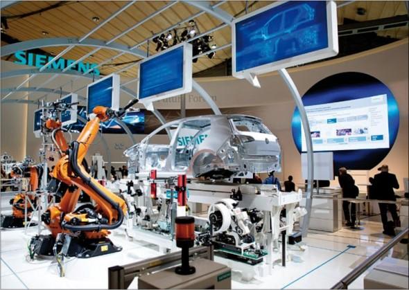 Ukázka těsného funkčního propojení virtuálního prostředí a skutečného zařízení.