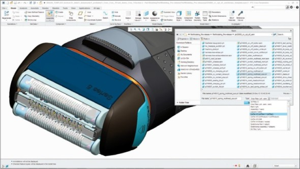 Creo 3.0 načítá nativní data běžných CAD systémů, nemusíte se proto zabývat exportováním a importováním tzv. neutrálních formátů.