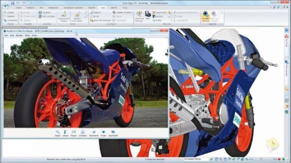 Uživatelé Solid Edge (alespoň tedy licencí Classic a Premium) nyní získávají speciální verzi vizualizačního softwaru KeyShot.