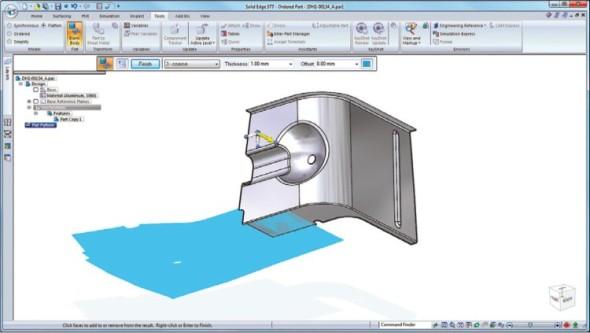 Nyní je možné provést rozvin jiných než plechových tvarů pro získání představy o požadavcích na materiál.