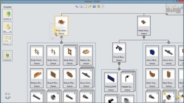 Nástroj Treehouse pomáhá připravit přehlednou strukturu sestavy pro její snazší následné vytváření v CAD prostředí.