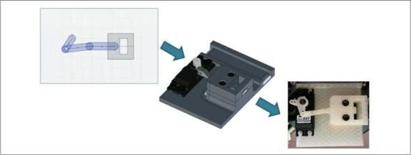 Návrh konceptu upínacího mechanismu, který byl následně zkonstruován a vyroben na 3D tiskárně.