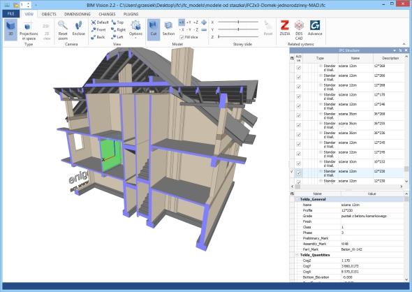 Bezplatný prohlížeč BIM Vision čte modely ve formátu IFC 2 × 3. Foto: BIM Vision