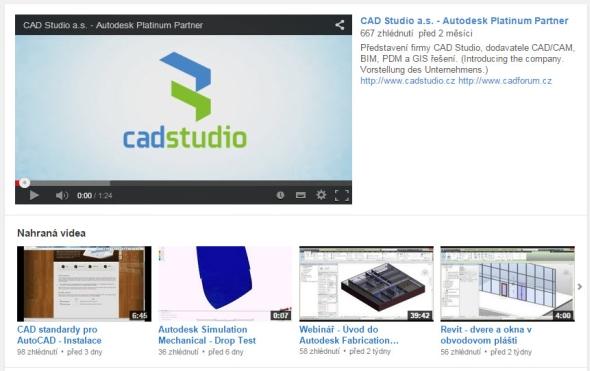 Za publikaci videa na kanálu CAD Studia můžete získat sto korun.