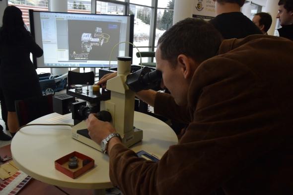 Katedra mechanické technologie prezentovala výzkum v oblasti složení materiálů. Foto: Marek Pagáč