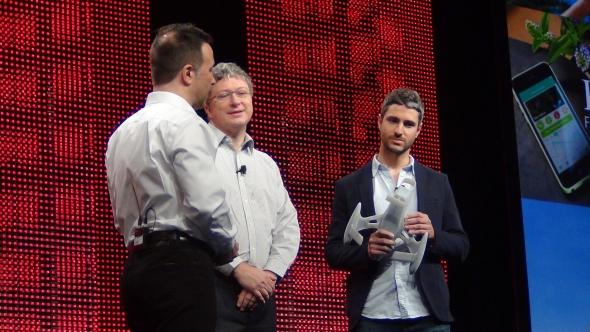 O výhodách SolidWorks Industrial Design hovořil hlavní designér Karim Fargeau (vpravo). Foto Marek Pagáč