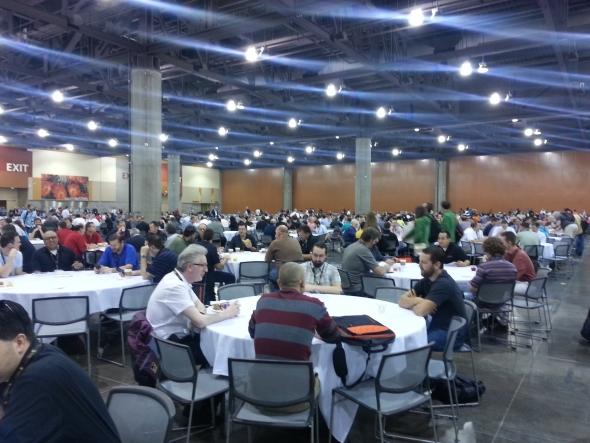 Organizovat stravování pro tisíce uživatelů zvládali organizátoři dokonale.