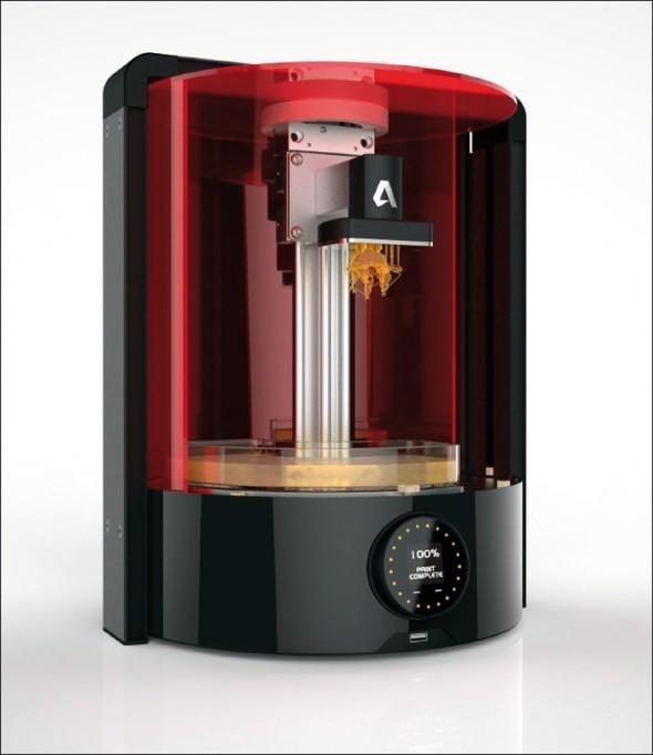 3D tiskárna od Autodesku nabídne 3D tisk detailních modelů metodou světelné polymerizace.