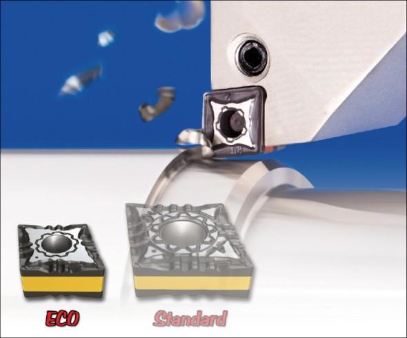 Porovnání standardní břitové destičky s novinkou velikosti ECO.
