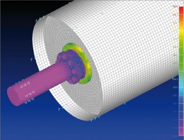 Analýza dílčího prvku (poháněcí buben) z větší sestavy jednoho z produktů společnosti Kešner.