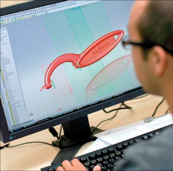 Zdrojová data pro 3D tisk vznikají jako virtuální prototyp v CAD softwaru.
