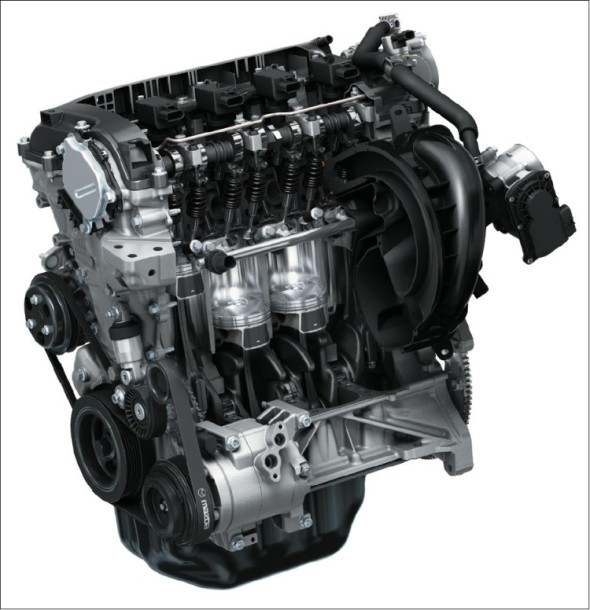 Dokladem výtečné propracovanosti současného konceptu vozů Mazda jsou i motory řady Skyactiv-G s netradičním kompresním poměrem 14:1 u benzinové varianty i turbodieselu.