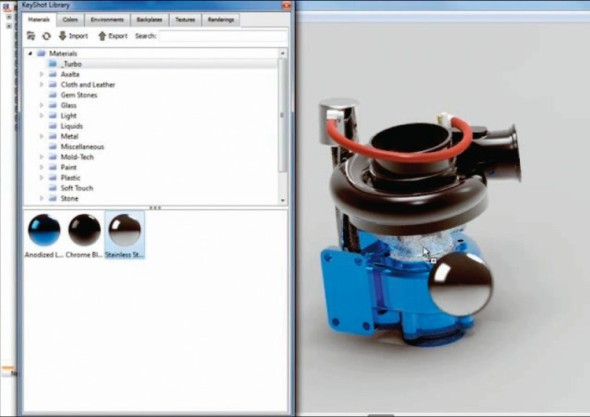 Modul KeyShot pomůže při rychlé tvorbě vizualizací.