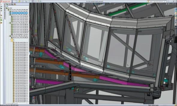 Celý projekt vznikal jako obří virtuální staveniště, na kterém se pod dohledem kontrolního oddělení se svými 3D daty potkávali všichni zapojení dodavatelé.
