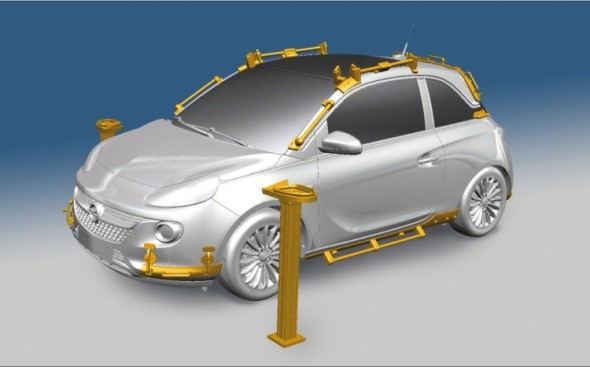 Při montáži Opelu Adam Rocks je použito kolem čtyřiceti přípravků vyrobených na 3D tiskárně.