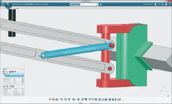Pokud model od počátku vznikal v SolidWorks Mechanical Conceptual, je možné používat v něm střídavě parametrické a přímé modelování