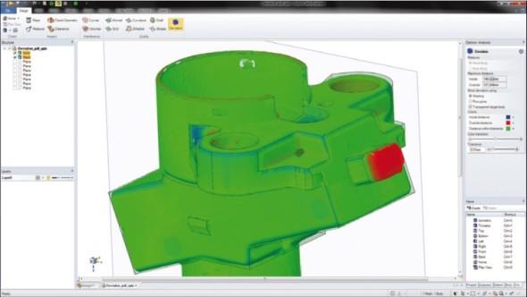 Porovnání odchylek mezi zdrojovým CAD modelem a STL modelem získaným prostřednictvím 3D skenování.