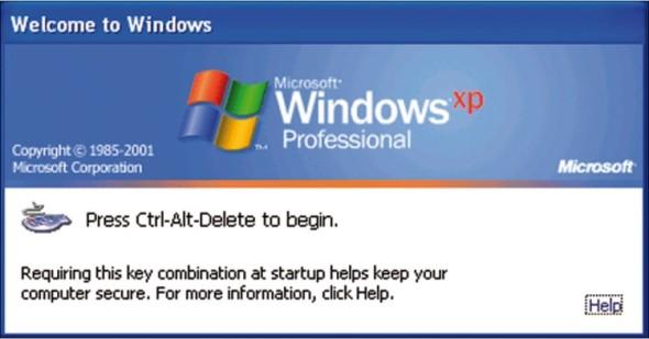 """Součástí fenoménu Windows XP je i """"přihlašovací"""" zkratka Ctrl-Alt-Delete, kterou už mnozí uživatelé současných verzí Windows vůbec neznají."""