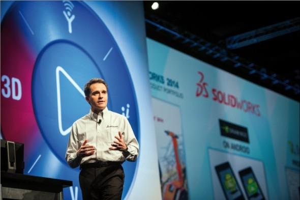 Generální ředitel Bertrand Sicot tvrdí, že SolidWorks je dnes nejrozšířenější značkou strojírenského 3D CAD softwaru na světě