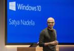 Satya Nadella, současný šéf Microsoftu, při prezentaci Windows 10. (zdroj: Microsotf)