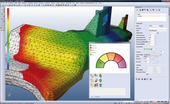 CAD/CAM VISI nabízí také integrovanou teplotní analýzu.