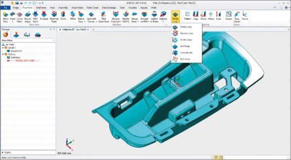 ZW3D je oblíbený mezi výrobci plastových dílů a taky v nástrojárnách.