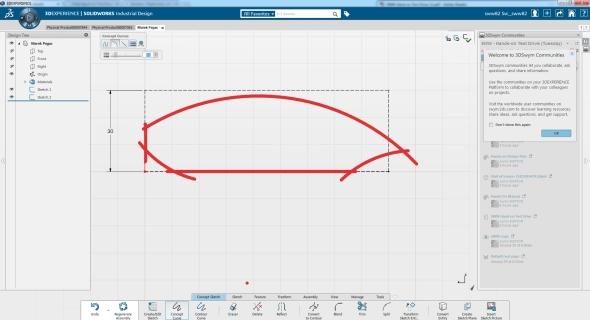 Funkce pro koncepční skicování usnadní práci skonstrukcí tvarově komplikovaných modelů. Screenshot: Marek Pagáč