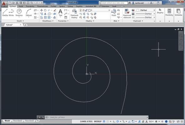 Tip pro AutoCAD: Jak nakreslit spirálu