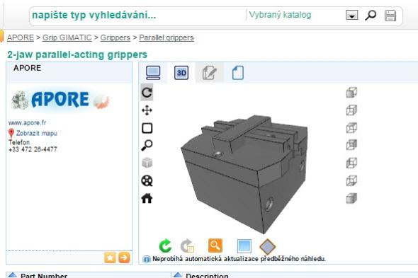 Databáze TracePartsOnline.net nabízí i 3D katalogy. Foto: TracePartsOnline.net