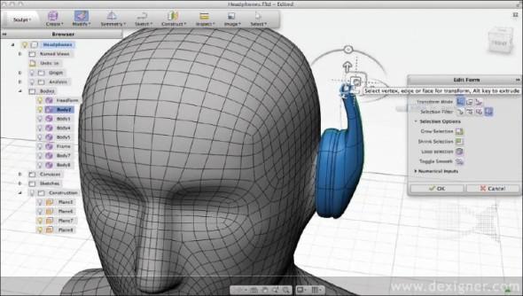 Pracovní prostředí cloudového CAD systému Autodesk Fusi- on 360 působí jednoduše a přitom nabídne vše nezbytné pro digitální návrh výrobku.