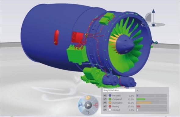 Nástroj Catia Live Weight umožňuje zjišťovat celkovou hmotnost navrhované sestavy nebo jejích dílčích prvků.
