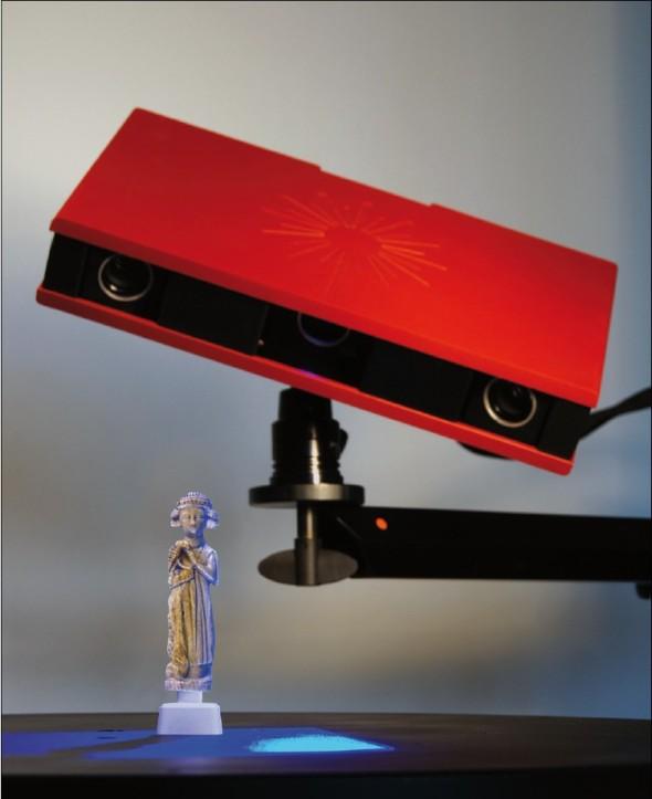 Prostorová digitalizace nálezu 3D skenerem Atos Core.