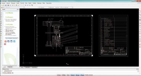 DraftSight se z posuzovaných aplikací jevil jako nejrobustnější a nejlépe interpretoval obsah originálních DWG souborů.