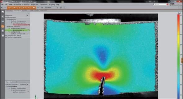Obrázek 2. Software GOM Inspect Professional poskytuje ve verzi V8 podporu pro 3D skenování (Atos), fotogrammetrii (Tritop) a pro bodové (Pontos) i plošné (Aramis) měření deformací.